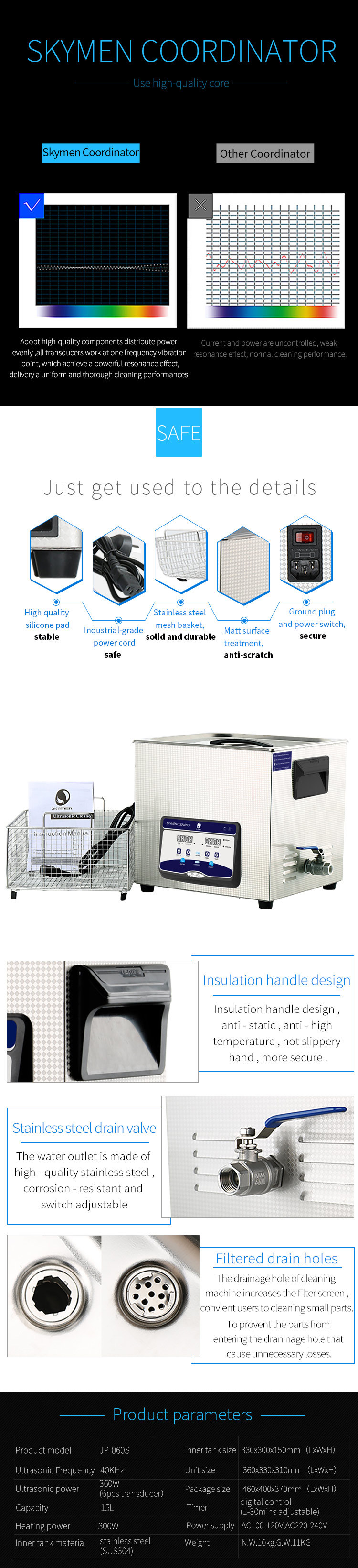 Quick Clean Dirt Carbon Residual Fast Shipping Pistol Ultrasonic Cleaner
