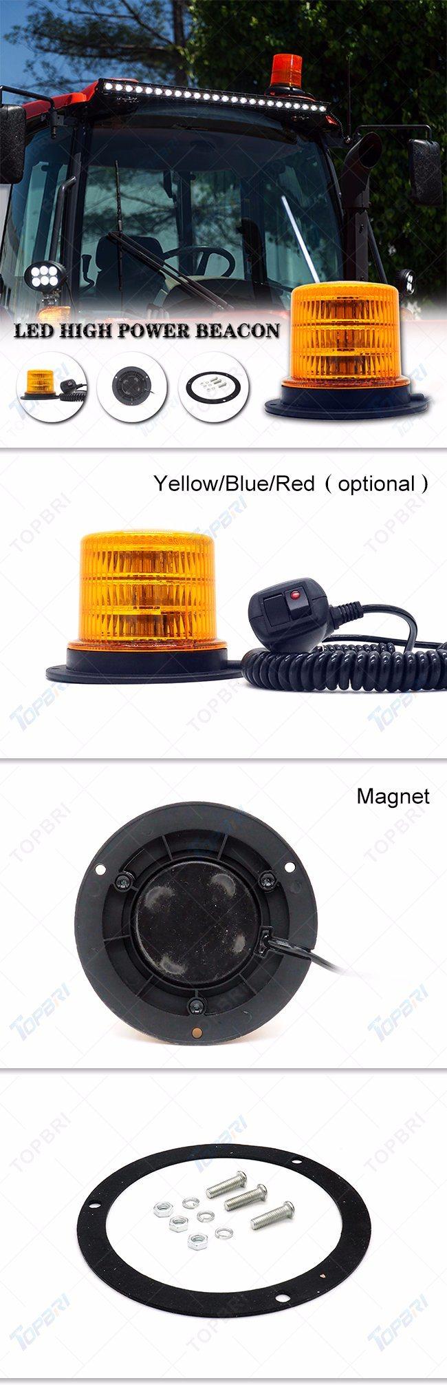 Amber LED Auto Rotating Strobe Warning Light