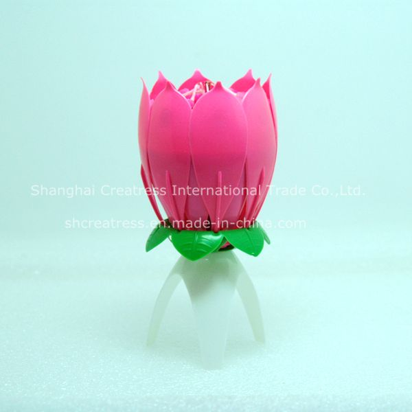 Factory Supplies Romantic Blooming Singing Candle