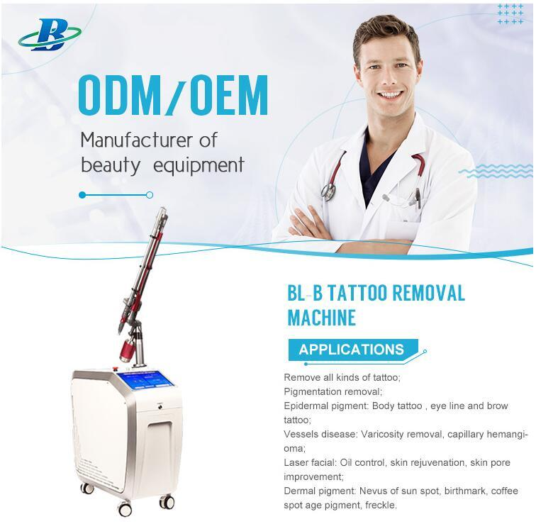 ND YAG Q Switched Laser Tattoo Removal Freckle Removal Machine
