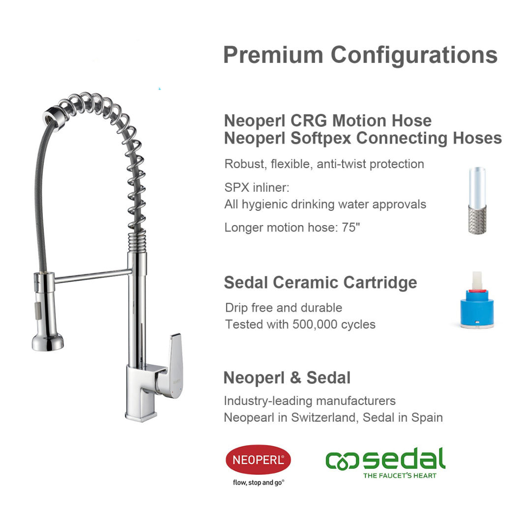 Single Lever Pull Down Kitchen Faucet with Zinc Singel Handle