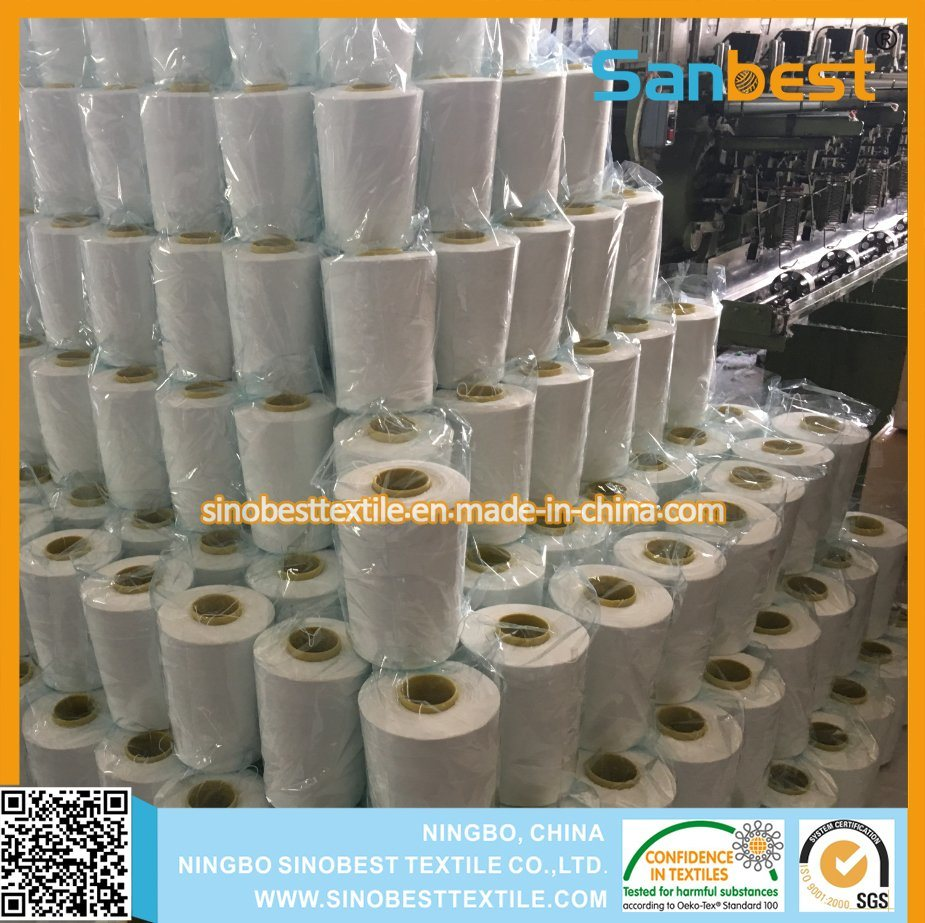 100% Spun Polyester Bag Closing Thread in Raw White