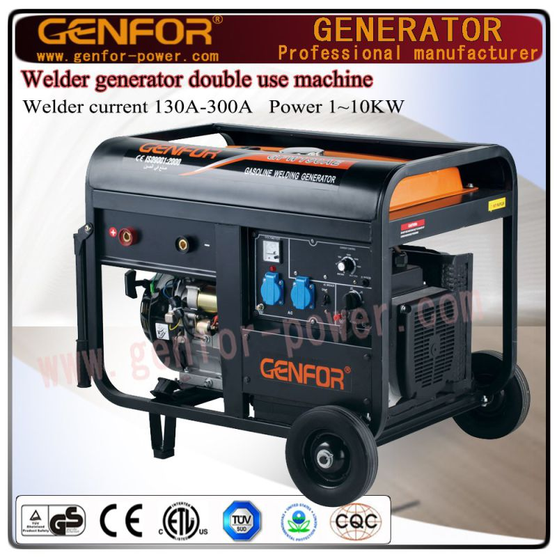 Open Type New Design Electric Single Phase 200A Gasoline Welder Generator for Sale