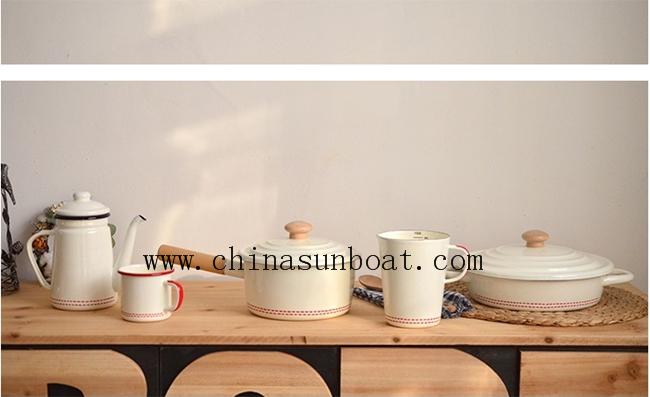 6PCS Household Kitchen Enamel Ware
