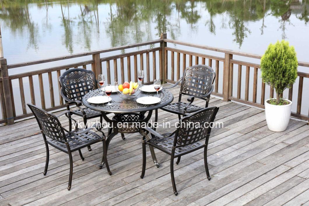 Cast Aluminum Tea Table and Chair Set Garden Furniture Outdoor Furniture-T018