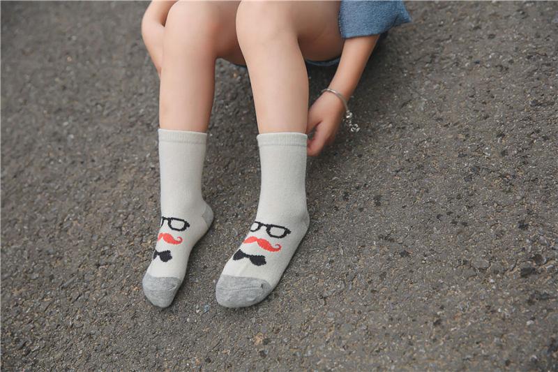 Glasses Designs Little Girl Cotton Socks Street Fashion Styles Girl Cotton Socks