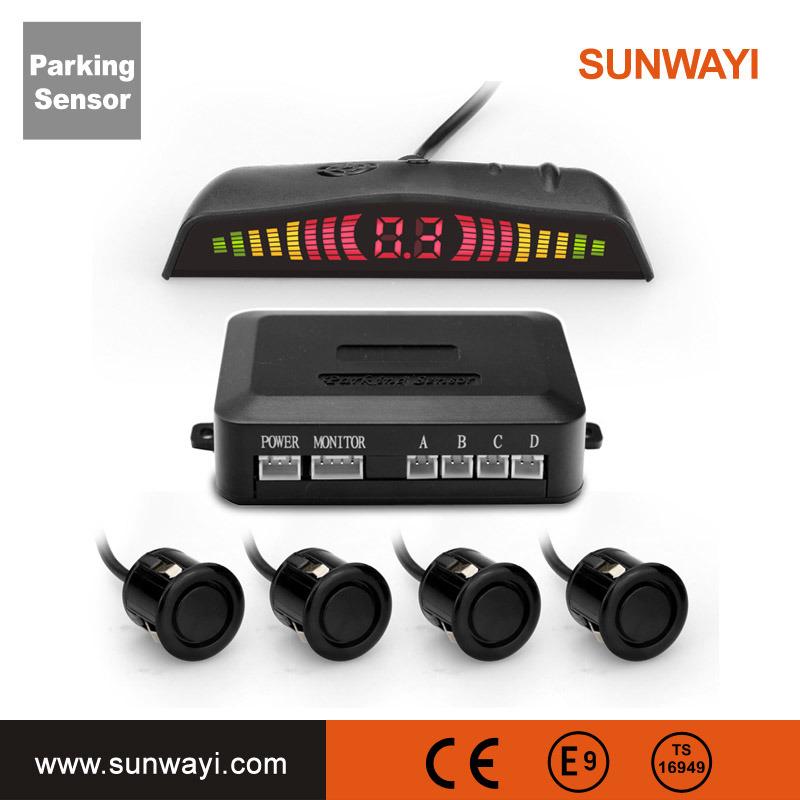 Auto Car Detector Display LED Parking Sensor Reverse Backup Radar Monitor System with 4 Sensors