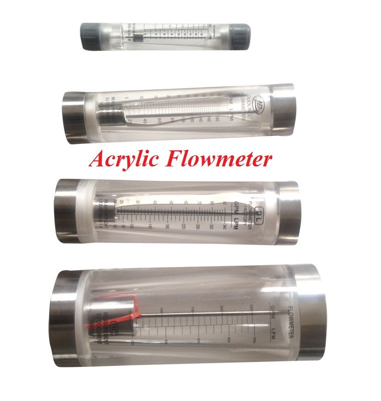Acrylic Square Adjust Gas/Air/Oxygen Panel Flow Meter with Valve Good Rotameter