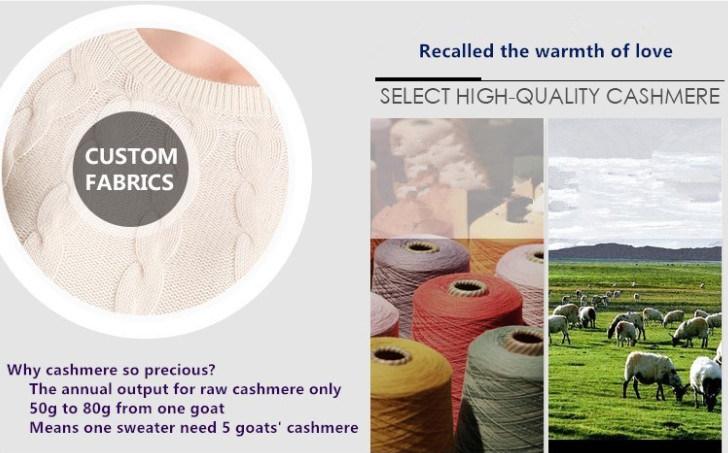 Lady's Cardigan 100% Cashmere Sweater, Winter Clothing Coat