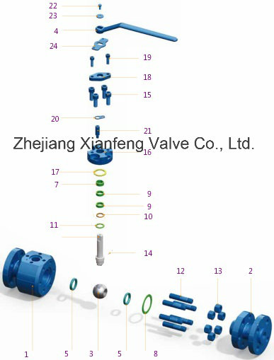Flange End Forged Steel Floating Ball Valve