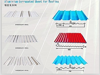 Colored Aluminium Corrugated Roofing Sheet (A1050 1060 1100 3003 3105 8011)