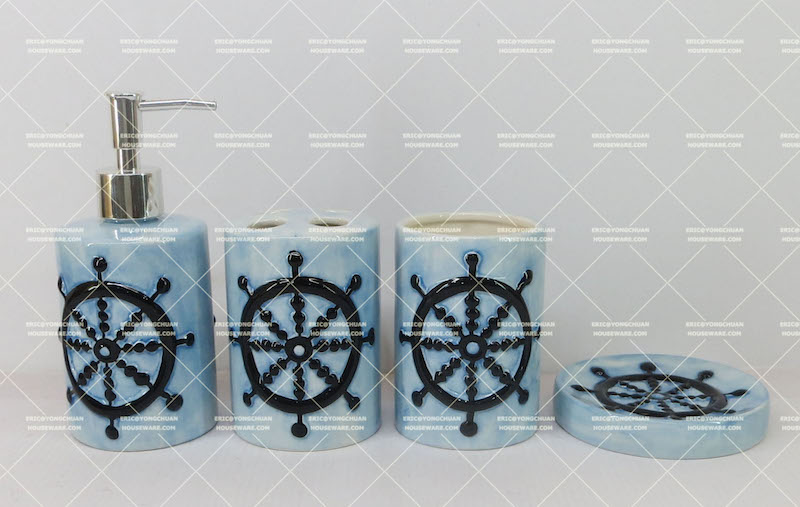 Navy Style Bathroom Set
