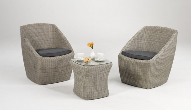 Garden Wicker Furniture Rattan Outdoor Leisure Bistro Patio Set