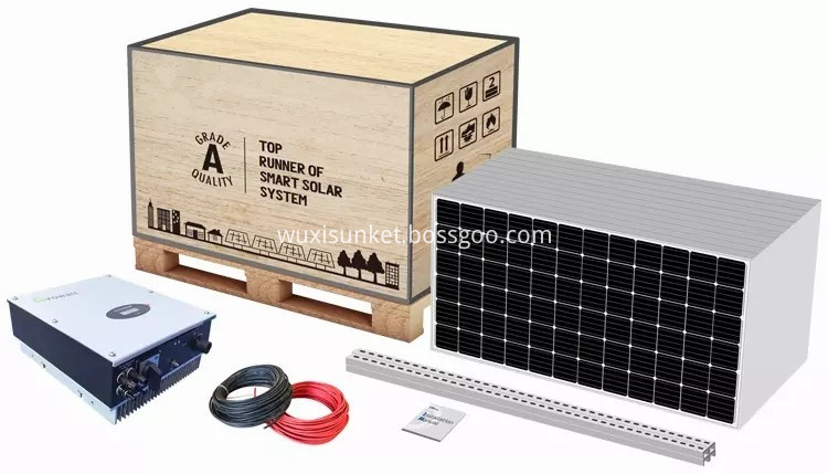 On grid solar system for home packing