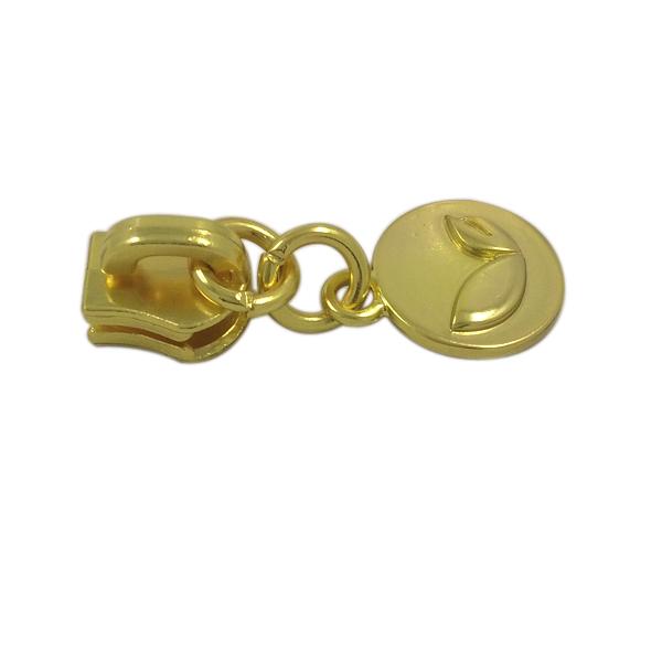 Cheap Customized Jacket Blank Gold Metal Zipper Puller