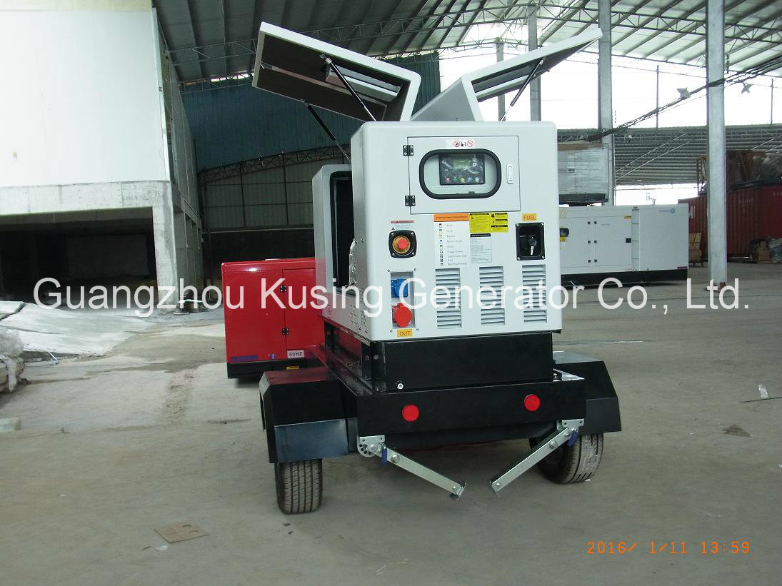 Pk30080 portable Mobile Trailer Diesel Silent Soundproof Generator Series