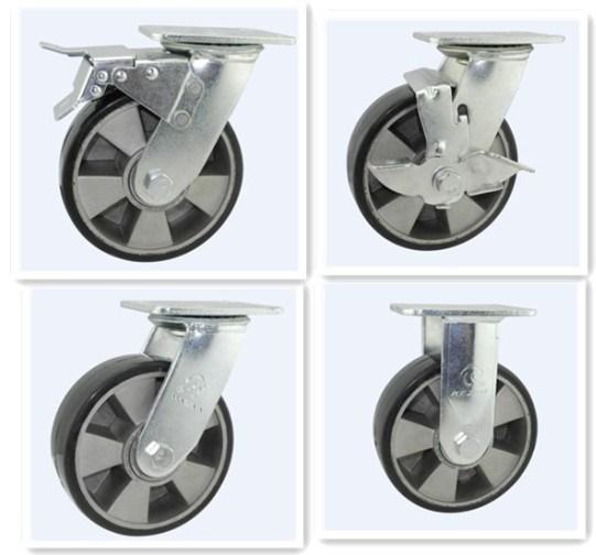 H17 Heavy Duty Type Double Ball Bearing PU on Aluminum Core Wheel Caster