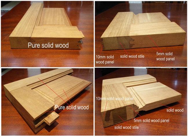 Red Oak HDF Moulded Veneer Wood Door Panel for Project