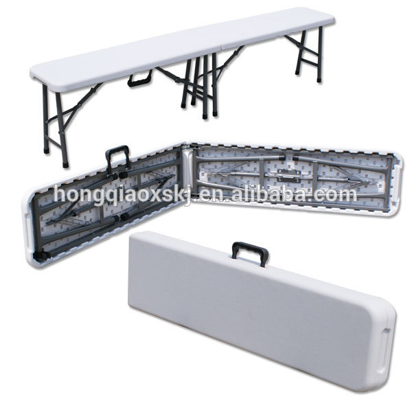 6FT HDPE Folding Park Bench Patio Bench