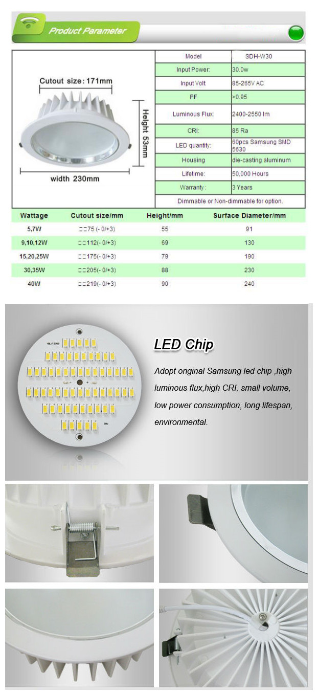 Ceiling Decoration Suface Mounted LED Downlight
