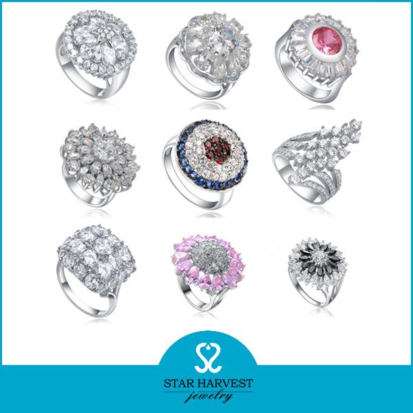 High Quality Silver Engagement Fashion Ring (SH-R0044)