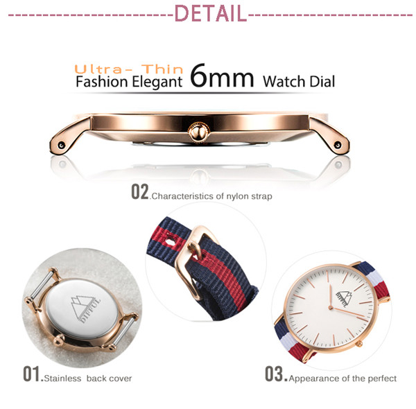 High Quality Stainless Steel Quartz Trendy New Dw Brand Original Watch for Men / DC-003