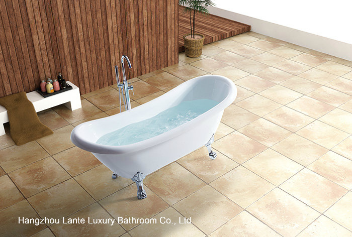 Classic Design Freestanding Acrylic Bathtub with Four Paw Feet (LT-10TW)