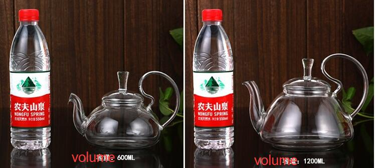Big Capacity Heat Resistance Glass Teapot with Stainless Steel Infusion
