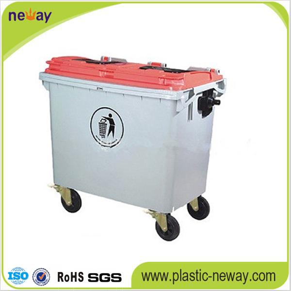 660L Eco-Friendly Outdoor Plastic Garbage Bin