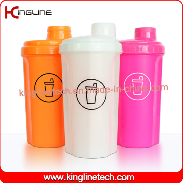 700ml Plastic Protein Shaker Bottle with Lid, BPA Free (KL-7028)