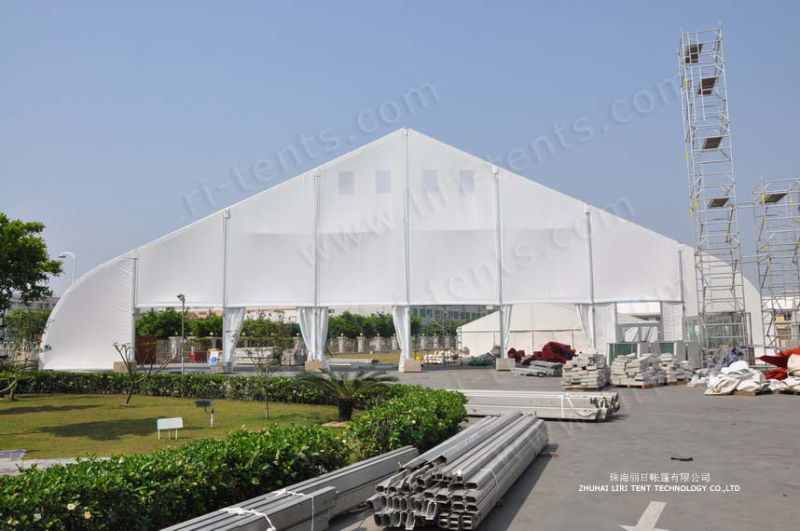 Large Aluminum Clear Span PVC Curved Roof Concert Tent for Sale