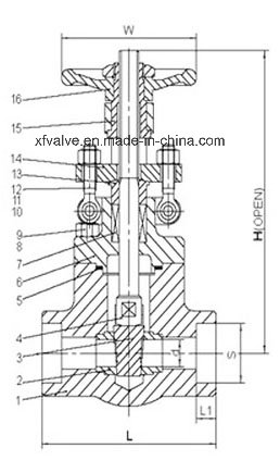 API602 800lb Forged Steel A105 Thread NPT Gate Valve