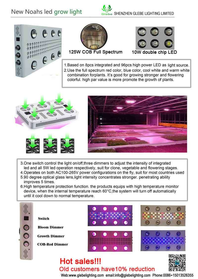 1000W High Power COB LED Grow Light Hydroponics Vegetables Full Spectrum Plant Grow Light