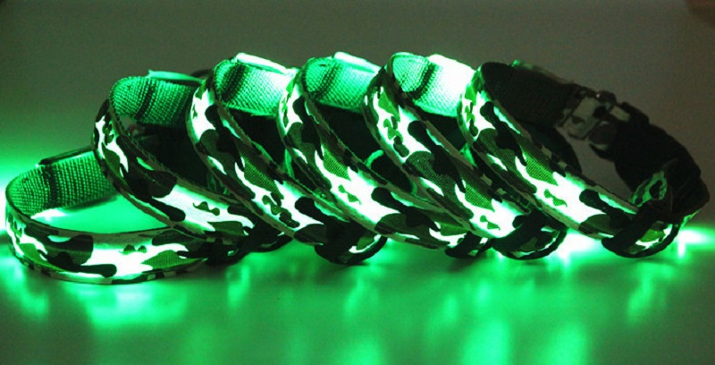LED Flashing Pet Collar Night Safety Dog Collars