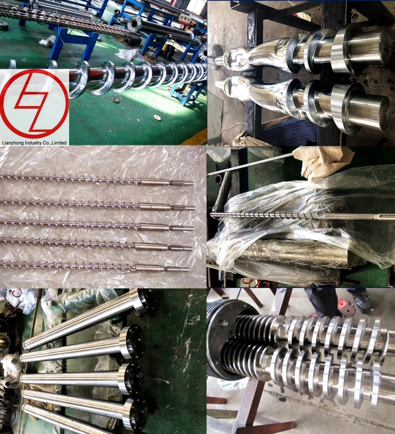 Screw and Barrel for Plastic Extruder Machine Design