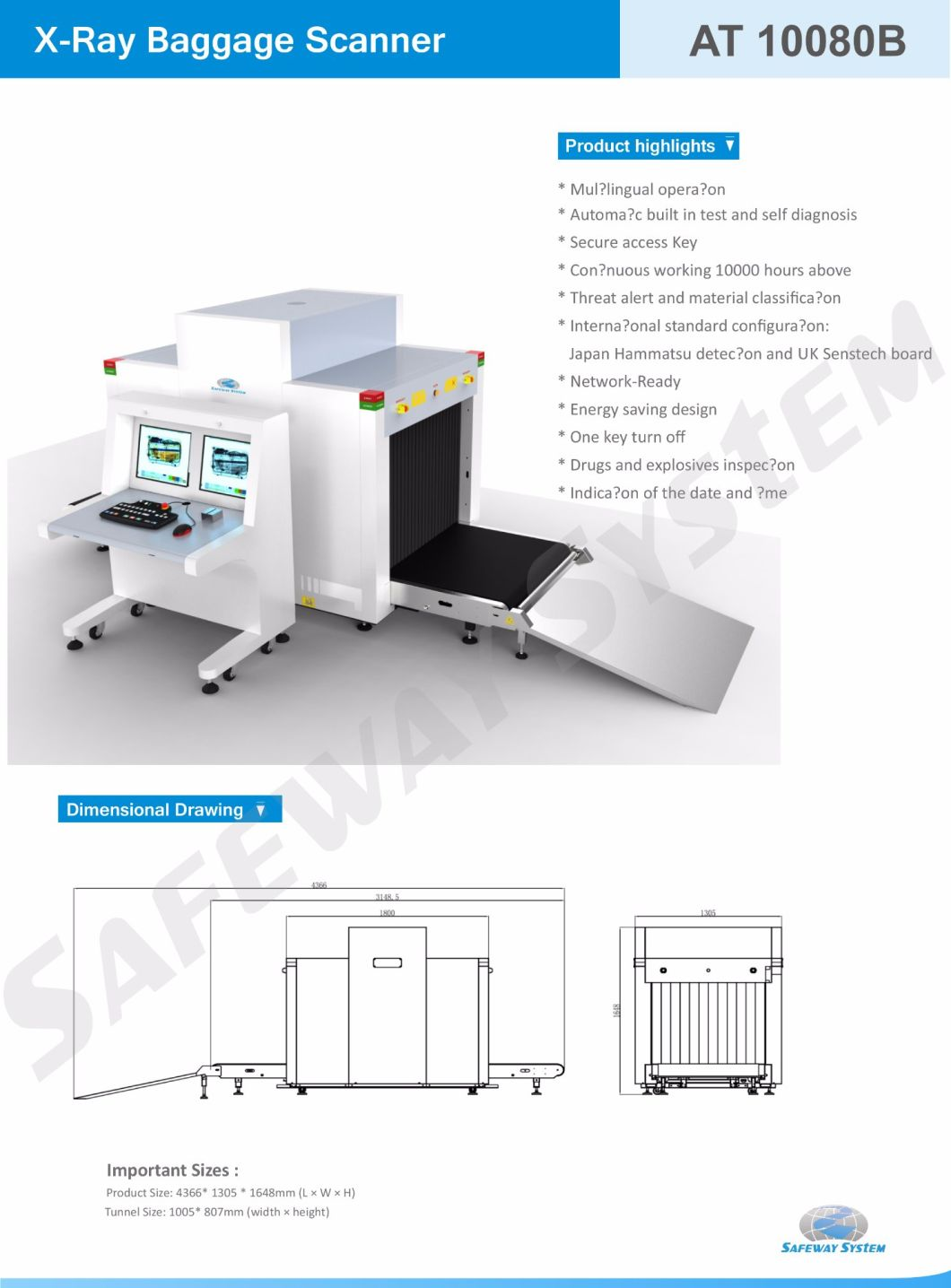 Most Popular X-ray Security Checking Machine X Ray Introscope Machine