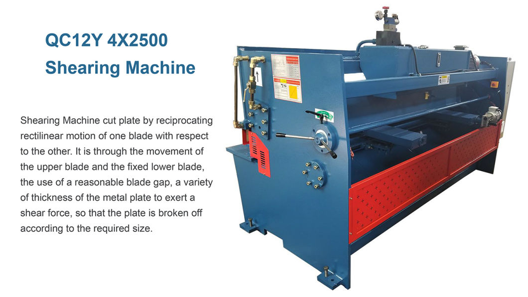 CNC Hydraulic QC12y 4X2500 Sheet Plate Cutting Shearing Machine