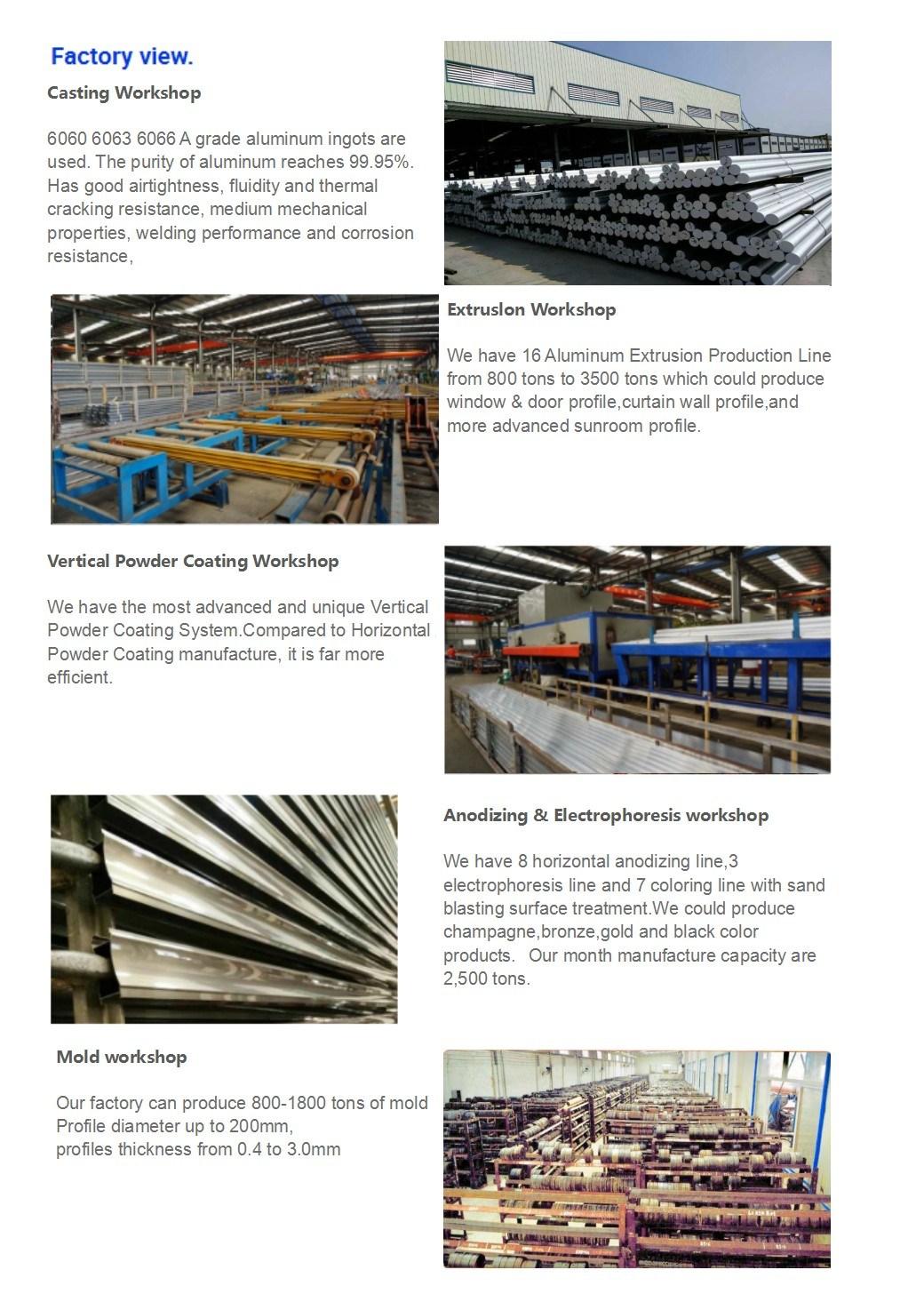 Cayoe Export Quality OEM Customized Windows Aluminum Profiles Product