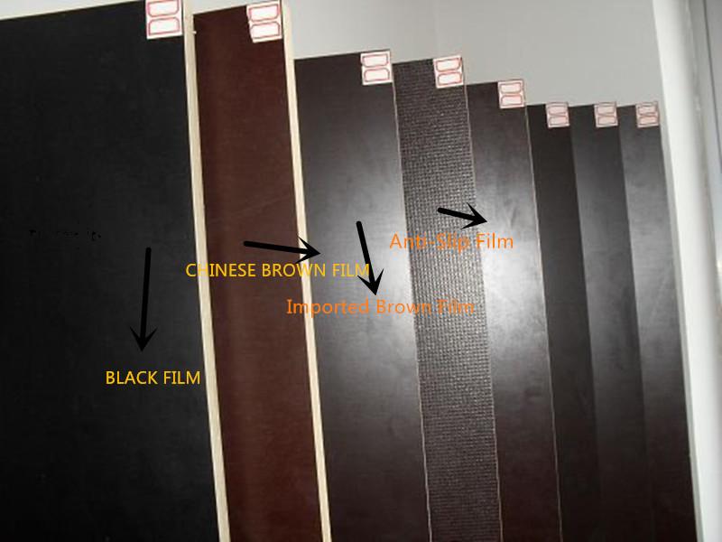 Korinplex Film Faced Plywood Poplar Core Brown Film WBP Glue