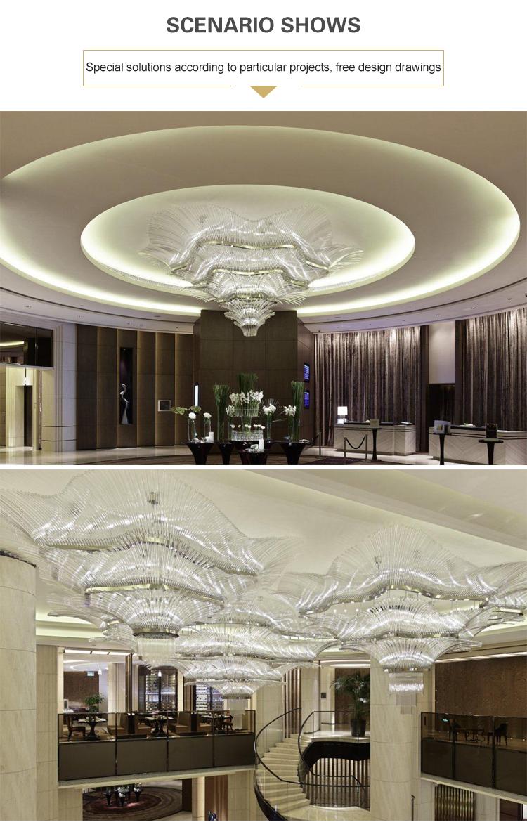 crystal for high ceilings chandelier pendant light