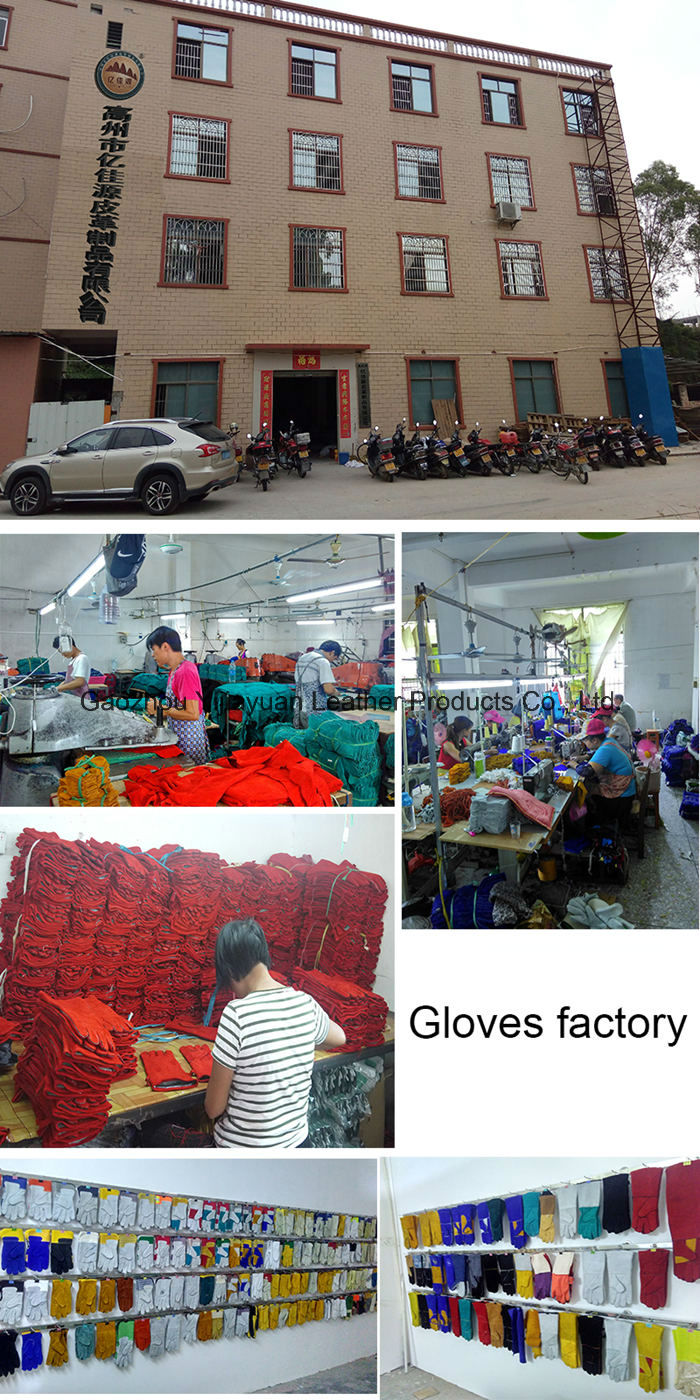 Pig Leather Wing Thumb Safety Machanist Working Gloves