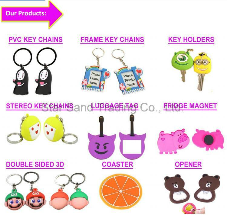 Hotsale Decorative Cartoon Key Chain Promotional Mini Photo Frame