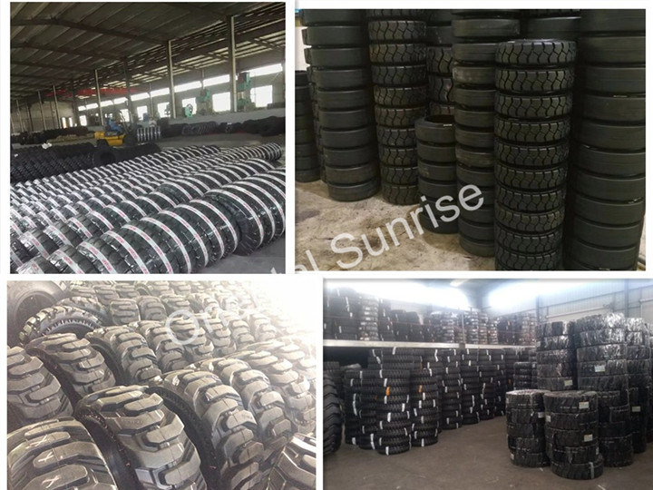 Pneumatic Solid Tyre with Deep Pattern Long Service Life