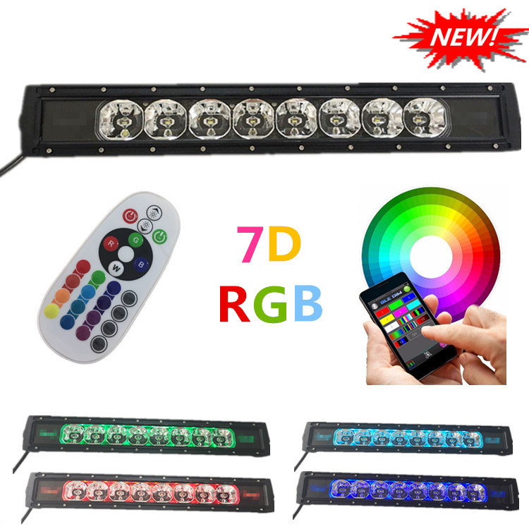 7D Projector Lens Bluetooth APP Music Mode Car ATV 4WD Truck off-Road LED Light Bar