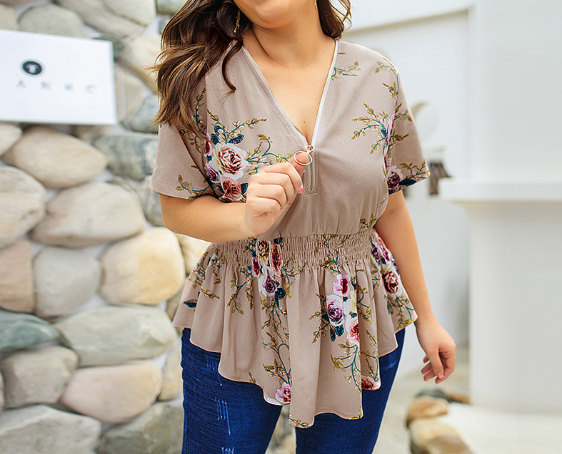 Casual Colorful Ladies' Blouses