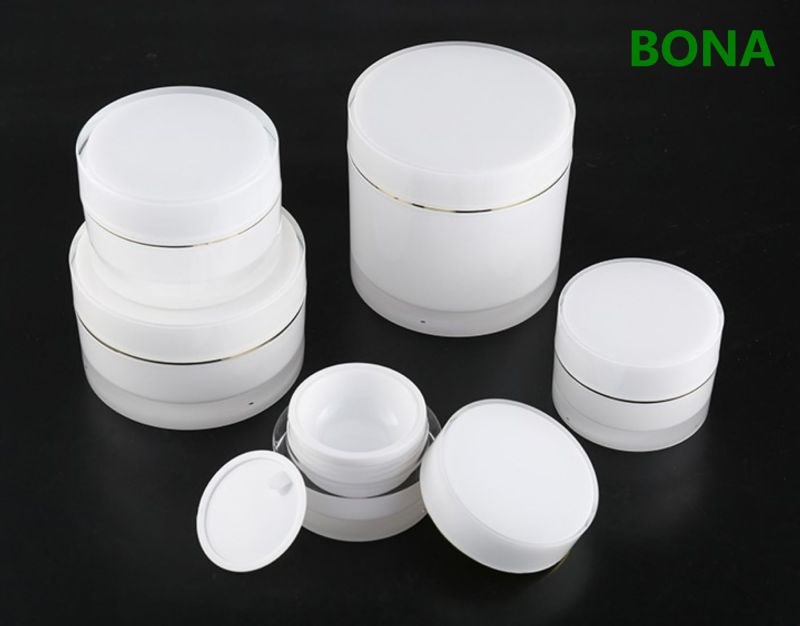 Double Wall Acrylic Cream Jar for Cosmetic Packaging