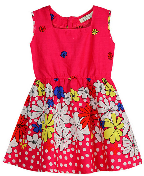 Summer Sun Flower Baby Girl Children's Suit for Kids Clothes SGS-110