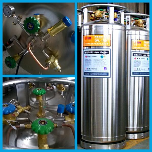 2014 Low Pressure Cryogenic Liquid Nitrogen Oxygen Argon Cylinder (DPL-450-175)