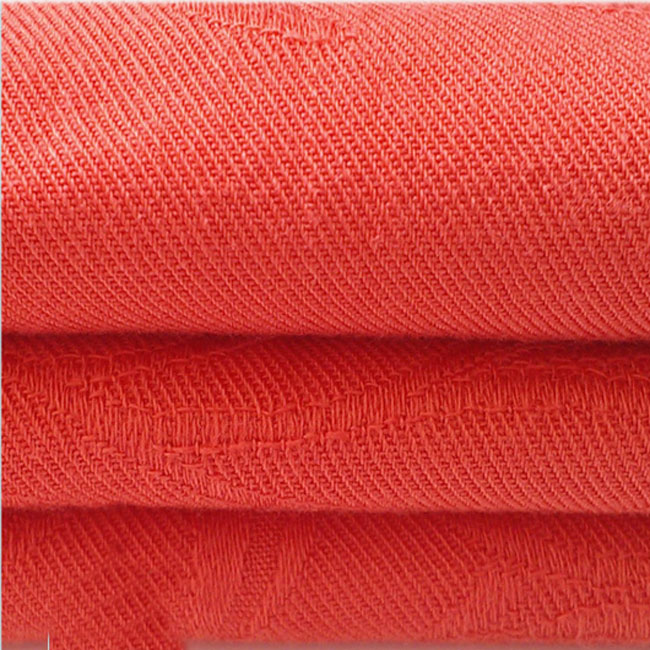 Red Rayon Jacquard Fabric Twill Weave Fabric for Shirt