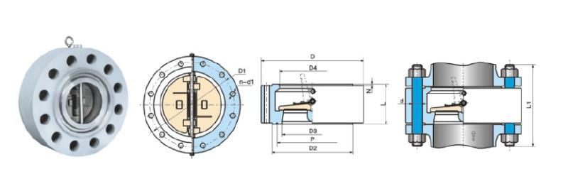 Forging Lug Solid Lug Dual Plate Check Valve